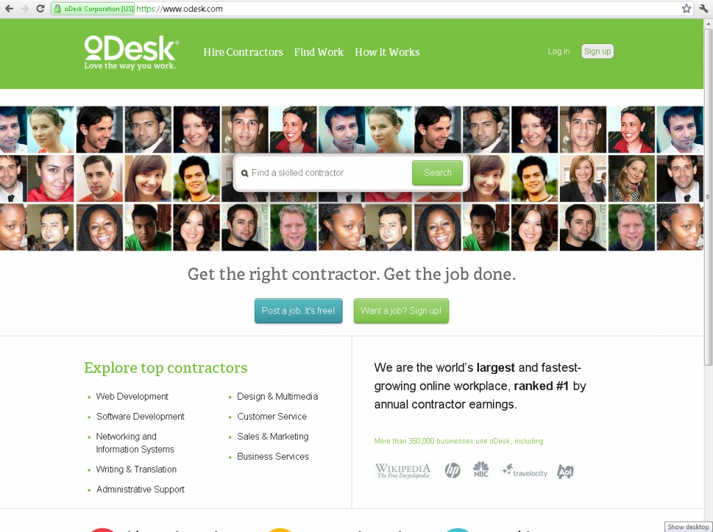 New-Odesk-Hompage